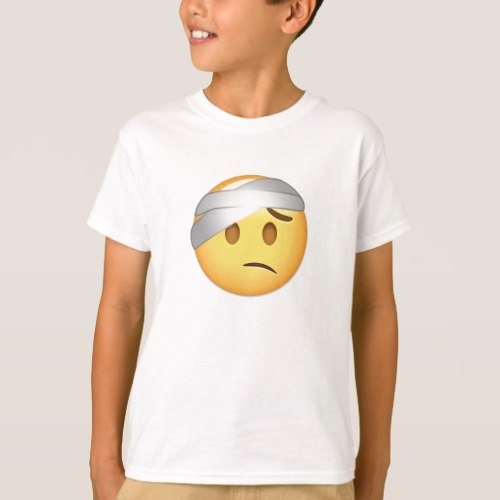Face With Head-Bandage Emoji T-Shirt for Kids