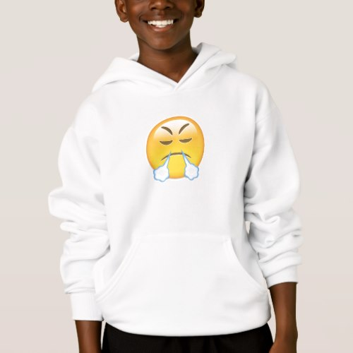 Face With Look Of Triumph Emoji Hoodie for Kids