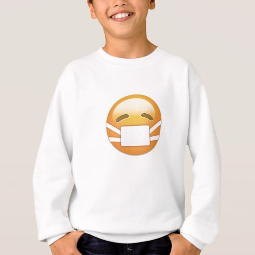 Face With Medical Mask Emoji Sweatshirt for Kids