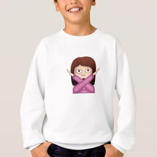 Face With No Good Gesture Emoji Sweatshirt for Kids