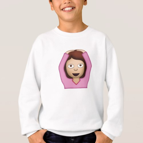 Face With OK Gesture Emoji Sweatshirt for Kids