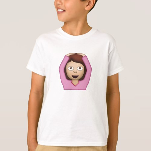 Face With OK Gesture Emoji T-Shirt for Kids