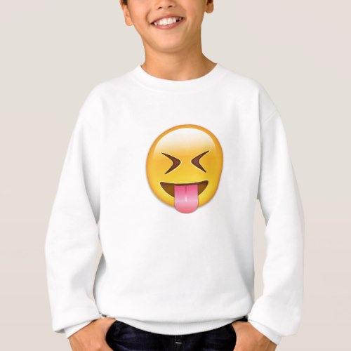 Face With Stuck Out Tongue & Tightly Closed Eyes Sweatshirt for Kids