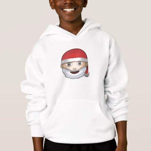 Father Christmas Emoji Hoodie for Kids