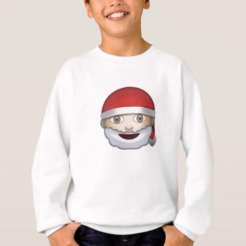 Father Christmas Emoji Sweatshirt for Kids