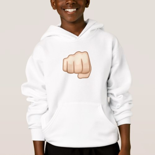 Fisted Hand Sign Emoji Hoodie for Kids