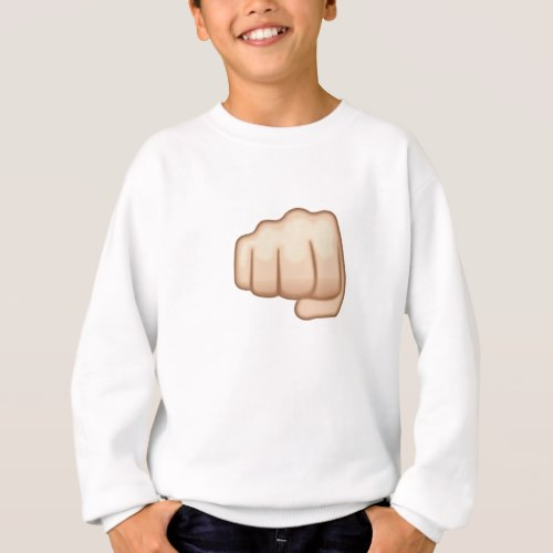 Fisted Hand Sign Emoji Sweatshirt for Kids