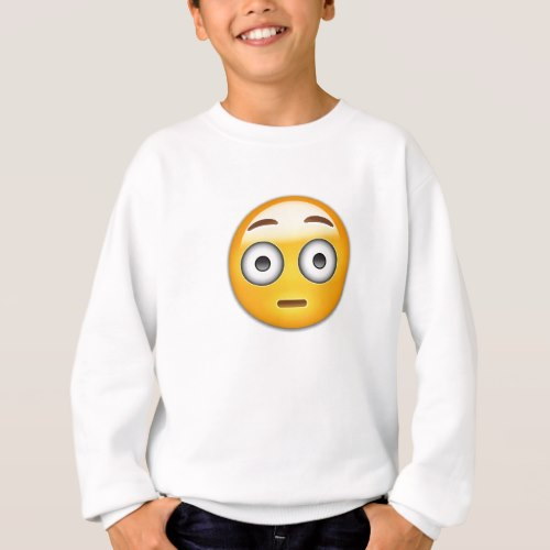 Flushed Face Emoji Sweatshirt for Kids