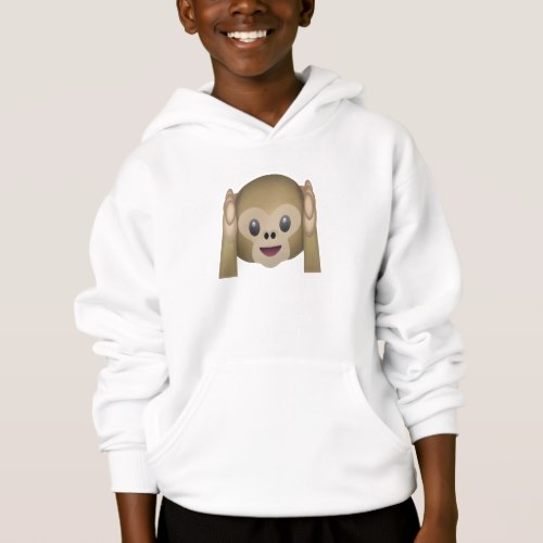 Hear No Evil Monkey Emoji Hoodie for Kids