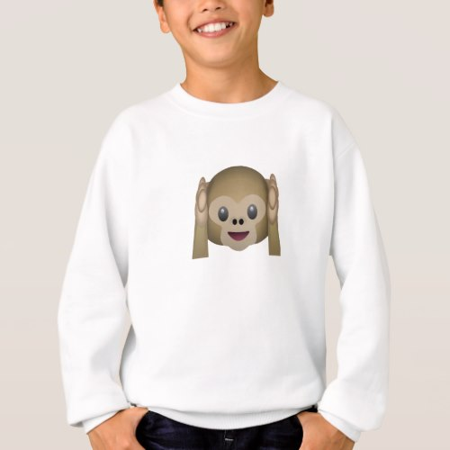 Hear No Evil Monkey Emoji Sweatshirt for Kids