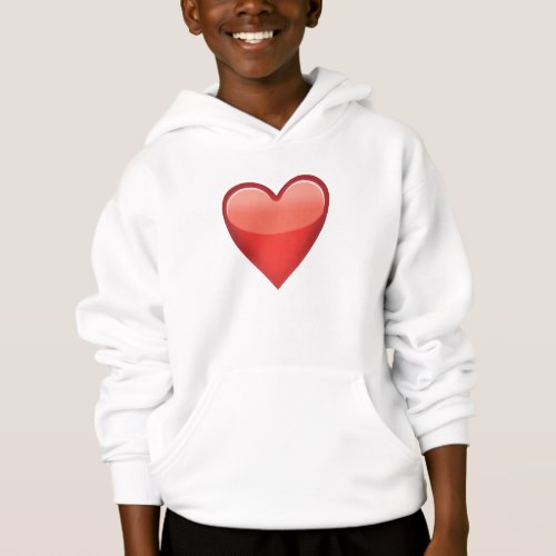 Heavy Black Heart Emoji Hoodie for Kids