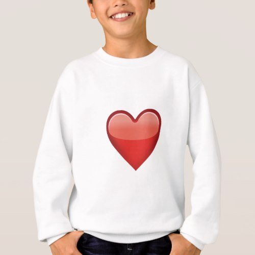Heavy Black Heart Emoji Sweatshirt for Kids