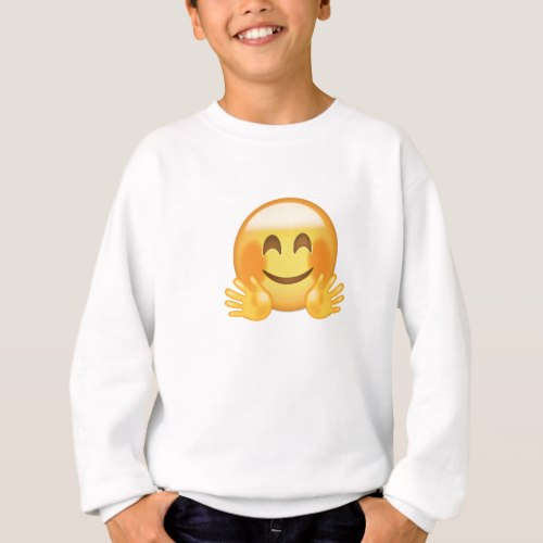 Hugging Face Emoji Sweatshirt for Kids
