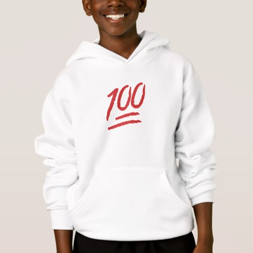Hundred Points Symbol Emoji Hoodie for Kids