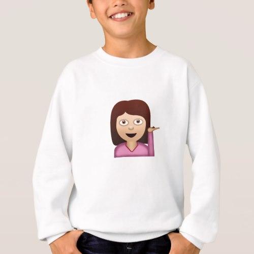 Information Desk Person Emoji Sweatshirt For Kids