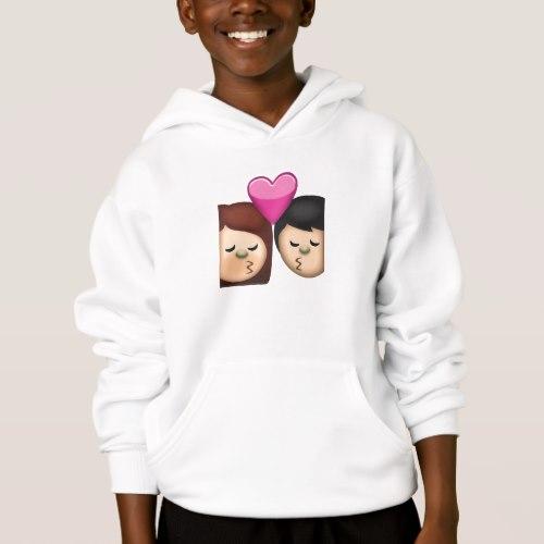 Kiss Emoji Hoodie for Kids