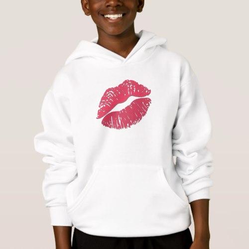 Kiss Mark Emoji Hoodie for Kids