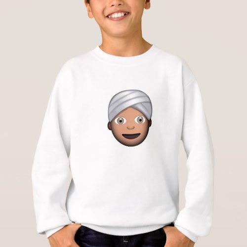 Man With Turban Emoji Sweatshirt for Kids