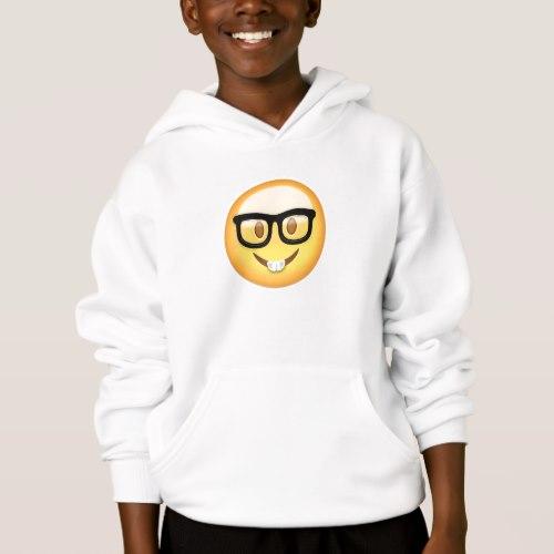 Nerd Face Emoji Hoodie for Kids