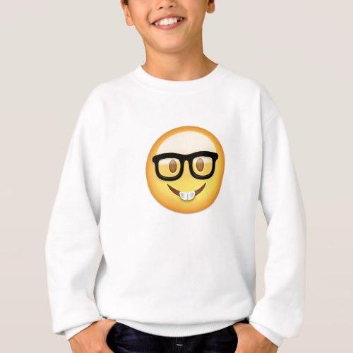Nerd Face Emoji Sweatshirt for Kids