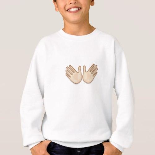 Open Hands Sign Emoji Sweatshirt for Kids