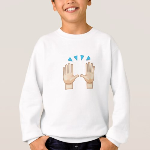 Person Raising Both Hands In Celebration Emoji Sweatshirt for Kids