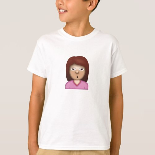 Person with Pouting Face Emoji T-Shirt for Kids
