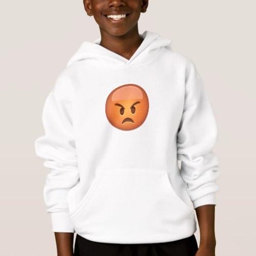 Pouting Face Emoji Hoodie for Kids