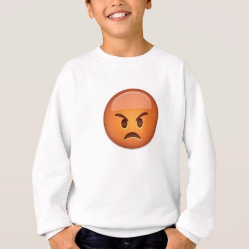Pouting Face Emoji Sweatshirt for Kids