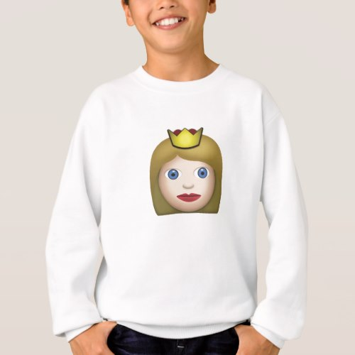 Princess Emoji Sweatshirt for Kids