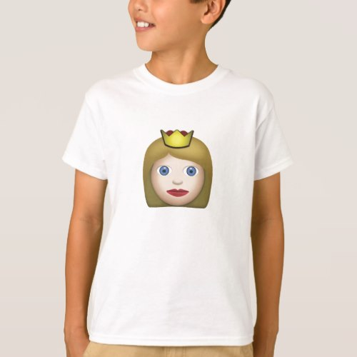 Princess Emoji T-Shirt for Kids