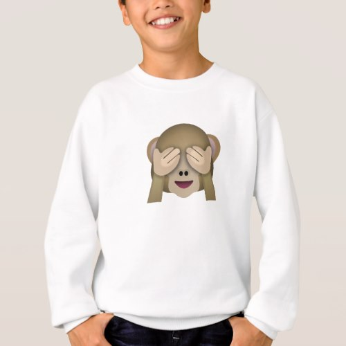 See No Evil Monkey Emoji Sweatshirt for Kids