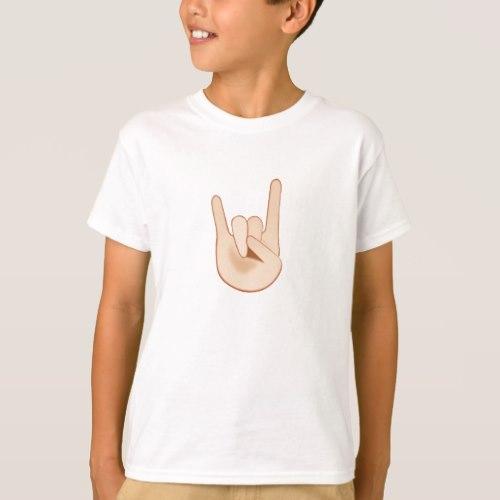 Sign of the Horns Emoji T-Shirt for Kids
