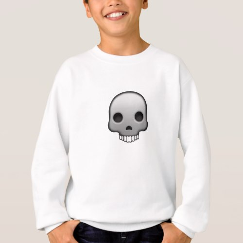 Skull Emoji Sweatshirt for Kids