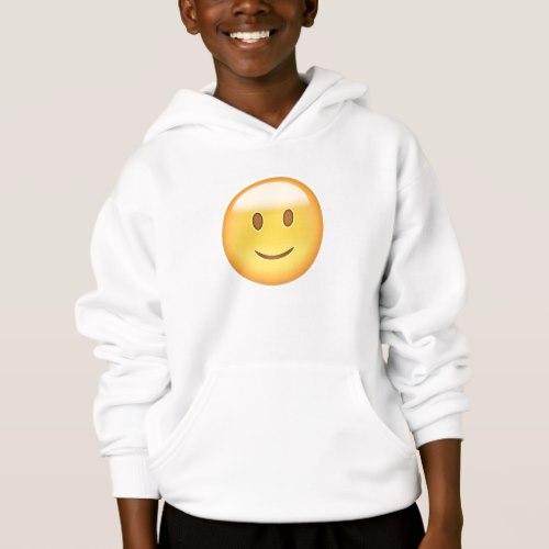 Slightly Smiling Face Emoji Hoodie for Kids