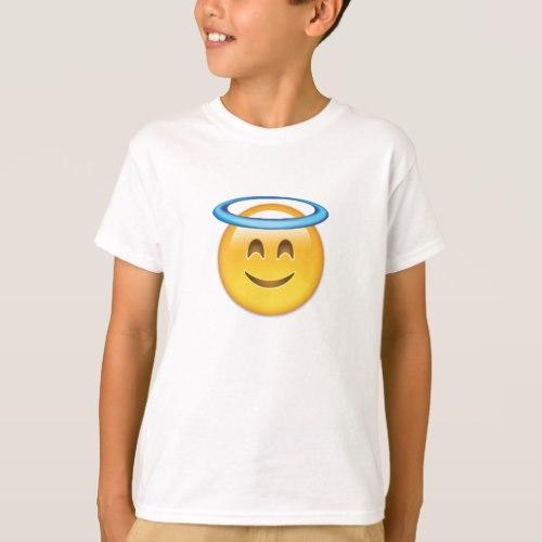 Smiling Face With Halo Emoji T-Shirt for Kids