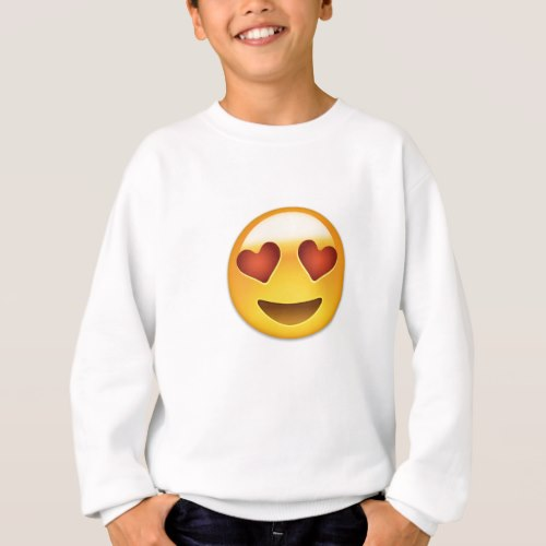 Smiling Face With Heart Shaped Eyes Emoji Sweatshirt for Kids