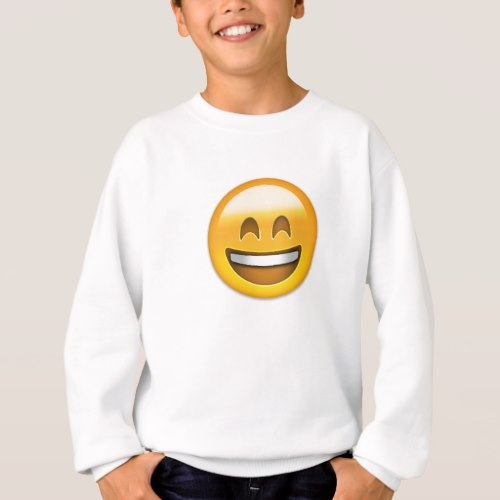Smiling Face With Open Mouth & Smiling Eyes Emoji Sweatshirt for Kids