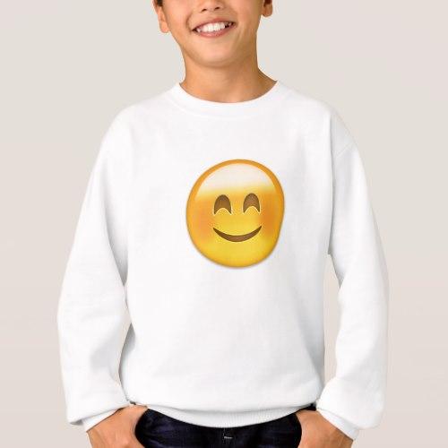 Smiling Face With Smiling Eyes Emoji Sweatshirt for Kids