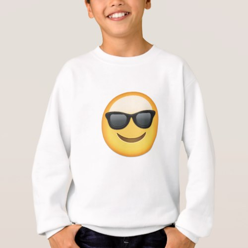 Smiling Face With Sunglasses Emoji Sweatshirt for Kids