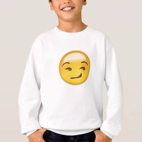 Smirking Face Emoji Sweatshirt for Kids