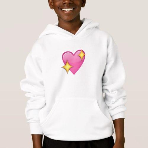 Sparkling Heart Emoji Hoodie for Kids