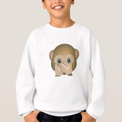 Speak No Evil Emoji Sweatshirt for Kids