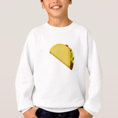 Taco Emoji Sweatshirt for Kids