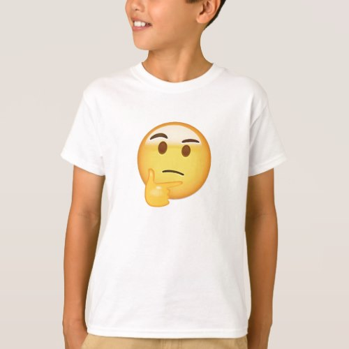 Thinking Face Emoji T-Shirt for Kids