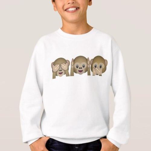 Three Wise Monkeys Emoji Sweatshirt for Kids