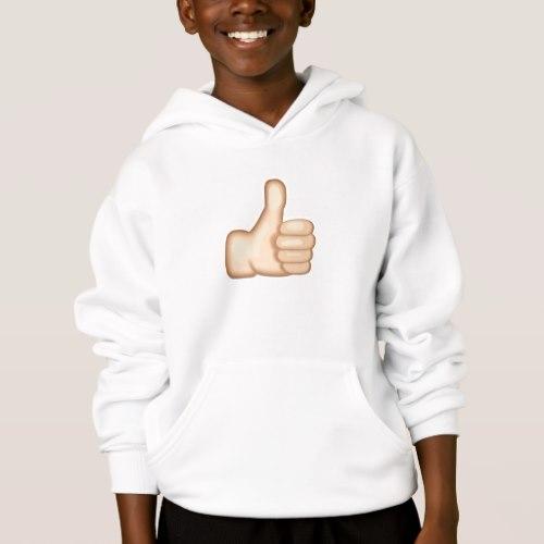Thumbs Up Sign Emoji Hoodie for Kids