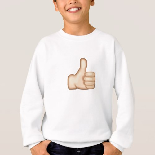 Thumbs Up Sign Emoji Sweatshirt for Kids
