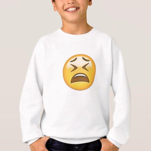 Tired Face Emoji Sweatshirt for Kids