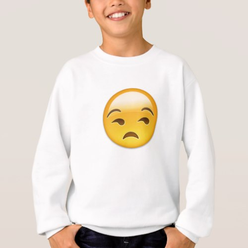 Unamused Face Emoji Sweatshirt for Kids